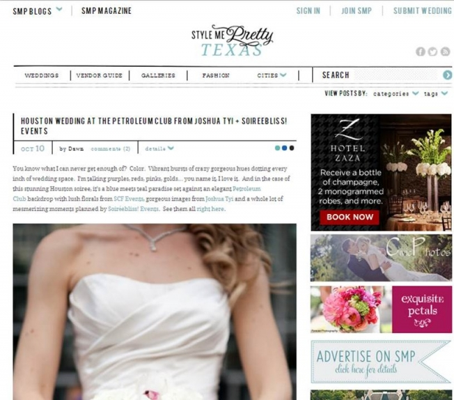 Soireebliss Events featured in Style Me Pretty